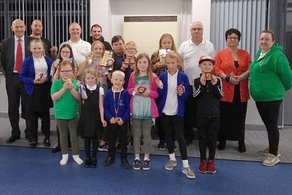 dearne kids presentation night at houghton road cc
